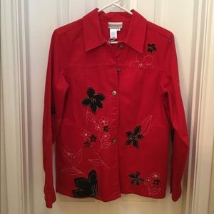 ❤️ Coldwater Creek Western Shirt with Appliqués
